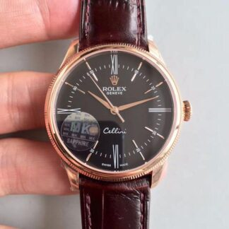 AAA Replica Rolex Cellini 50505 MKS Factory V4 Black Dial Mens Watch